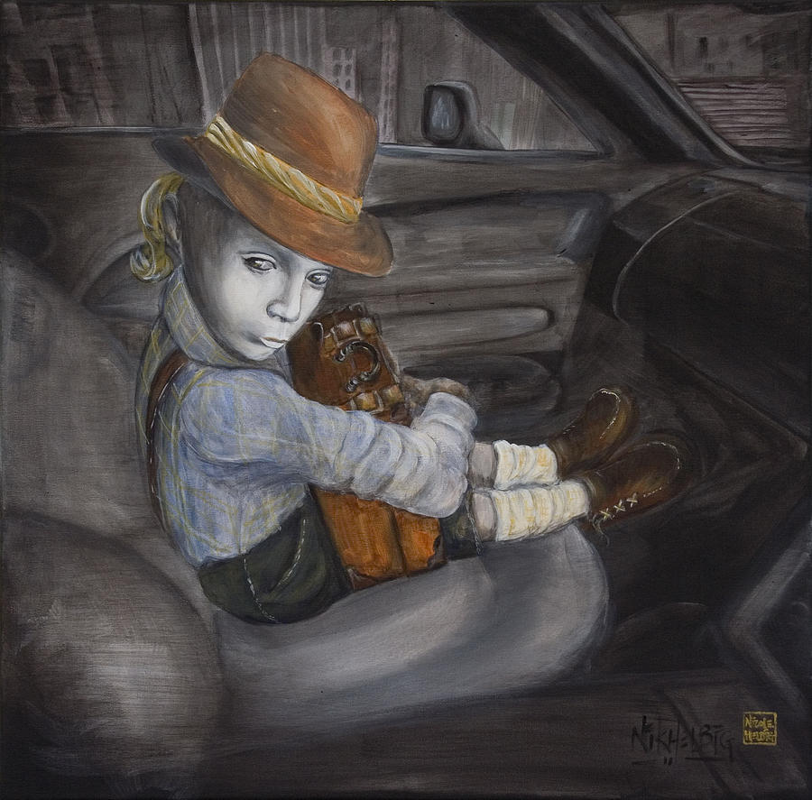 Boy Painting - Hitchhiker by Nik Helbig