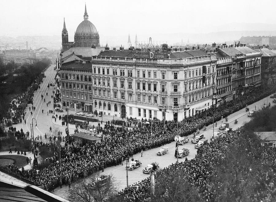 1930s Photograph - Hitler Enters Vienna by Underwood Archives