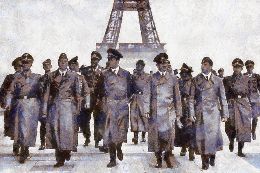 Hitler Painting - Hitler In Paris by Esoterica Art Agency