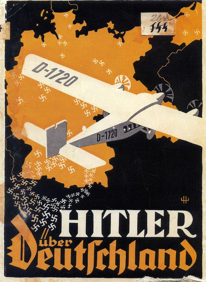 Germany Mixed Media - Hitler Uber Deutschland, Germany - Retro Travel Poster - Vintage Poster by Studio Grafiikka