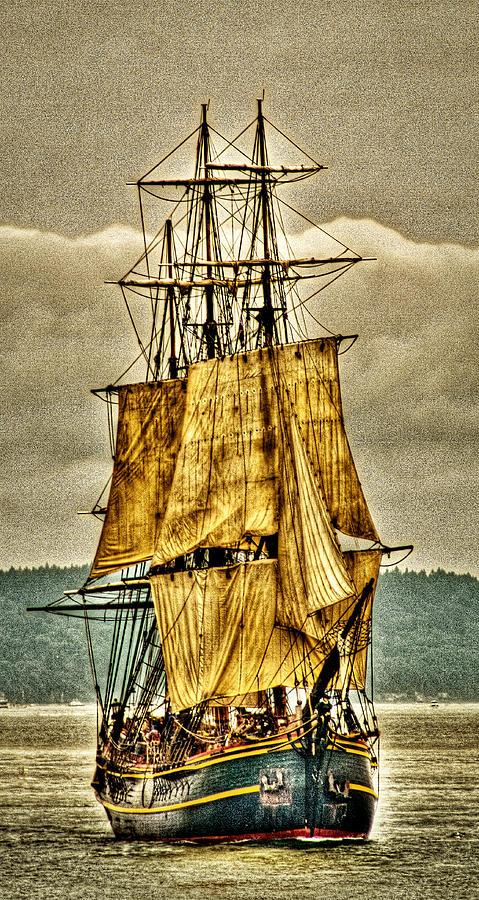 Tall Ships Photograph - Hms Bounty by David Patterson