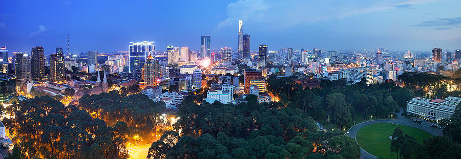 Architecture Photograph - Ho Chi Minh City Panorama by Huynh Thu