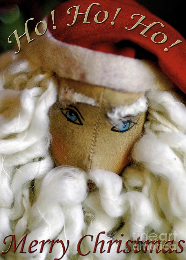 Ho Ho Ho Merry Christmas Santa Greeting Card Photograph