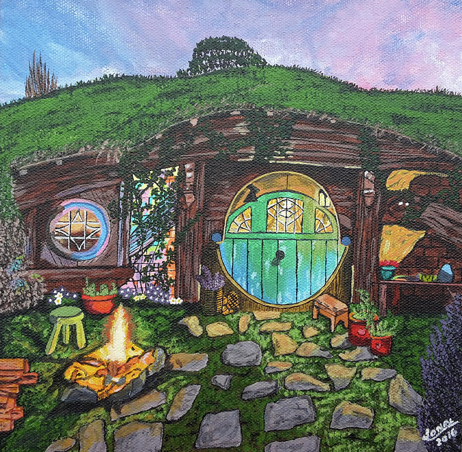 how to draw a hobbit hole