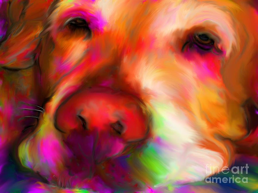 Dog Digital Art - Hobie by Suzanne Batchelor