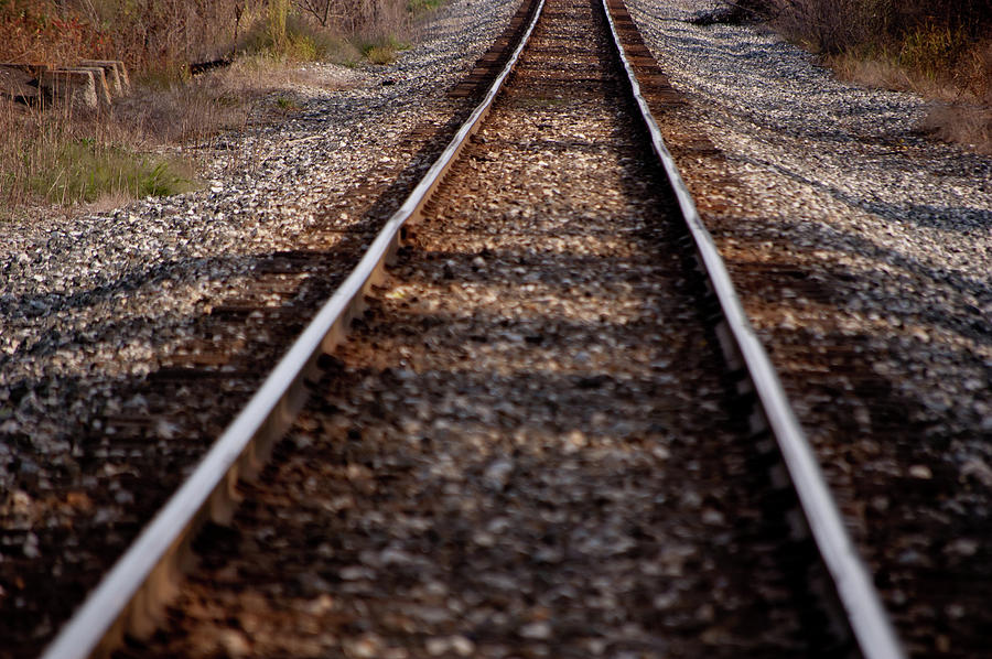 Railroad Photograph - Hobo Highway by RonSher Brooks