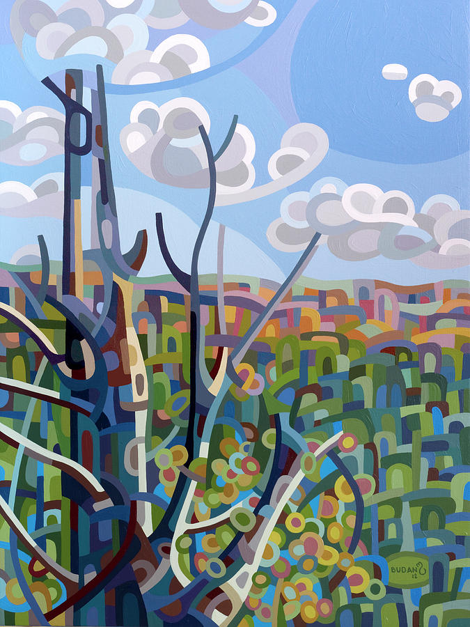 Landscape Painting - Hockley Valley by Mandy Budan