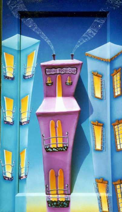 Buildings Painting - Hocus Pocus by Valerie Walsh