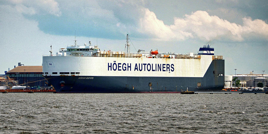 Hoegh Autoliners Heogh Maputo 9431850 At Curtis Bay by Bill Swartwout  Photography