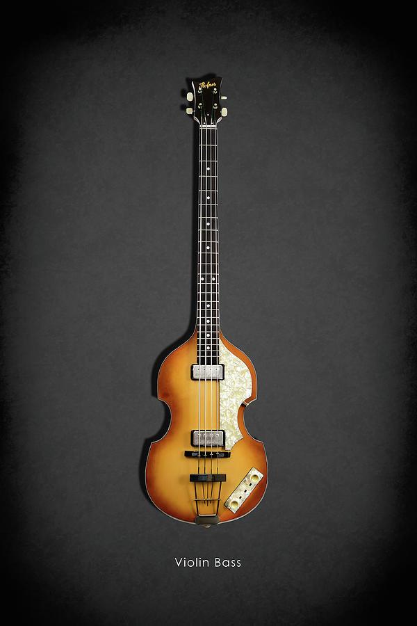 Hofner Guitar Photograph - Hofner Violin Bass 62 by Mark Rogan