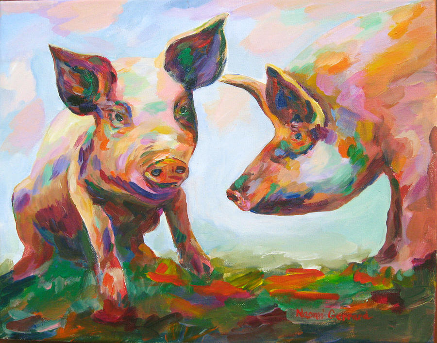 Pigs Painting - Hog consultation by Naomi Gerrard