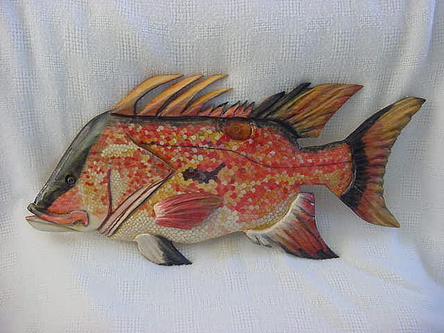 Hog Fish Mixed Media - Hog Fish Number 5-sold by Lisa Ruggiero