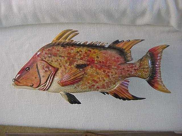 Signed Relief - Hog Fish Sold by Lisa Ruggiero