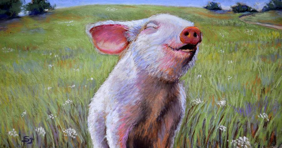 Pig Pastel - Hog Heaven by Susan Jenkins