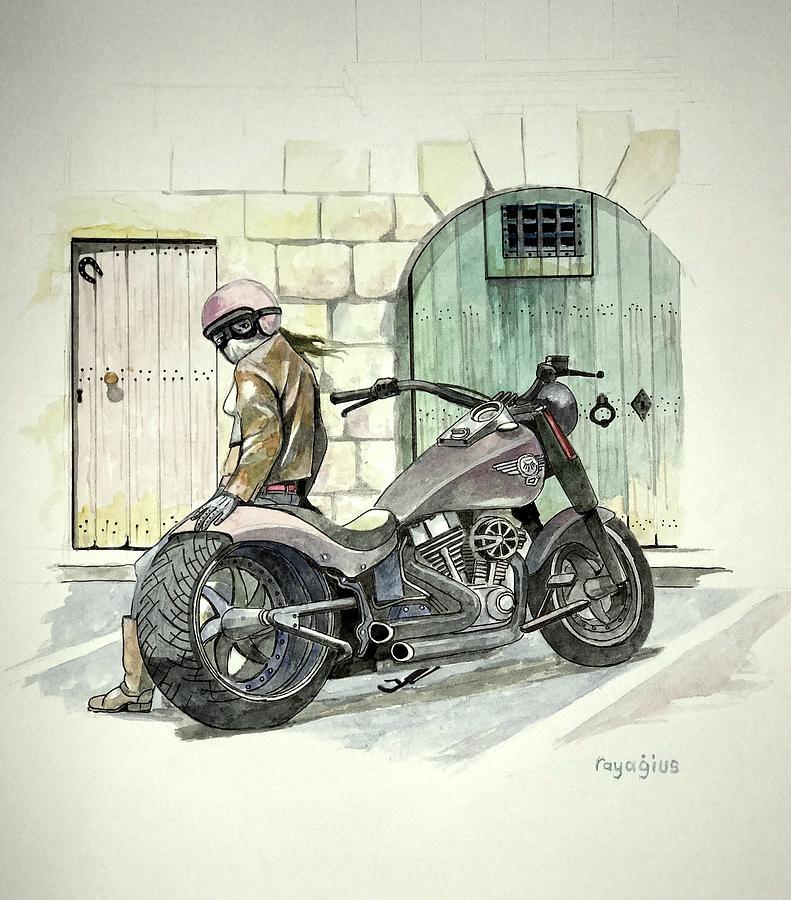 Hog Painting - Hog by Ray Agius