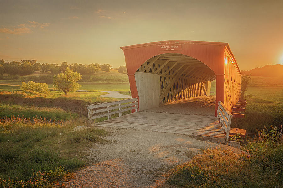 Hogback Bridge Photograph - Hogback Covered Bridge by Susan Rissi Tregoning