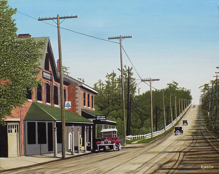 Streetscapes Painting - Hoggs Hollow Toronto 1920 by Kenneth M  Kirsch