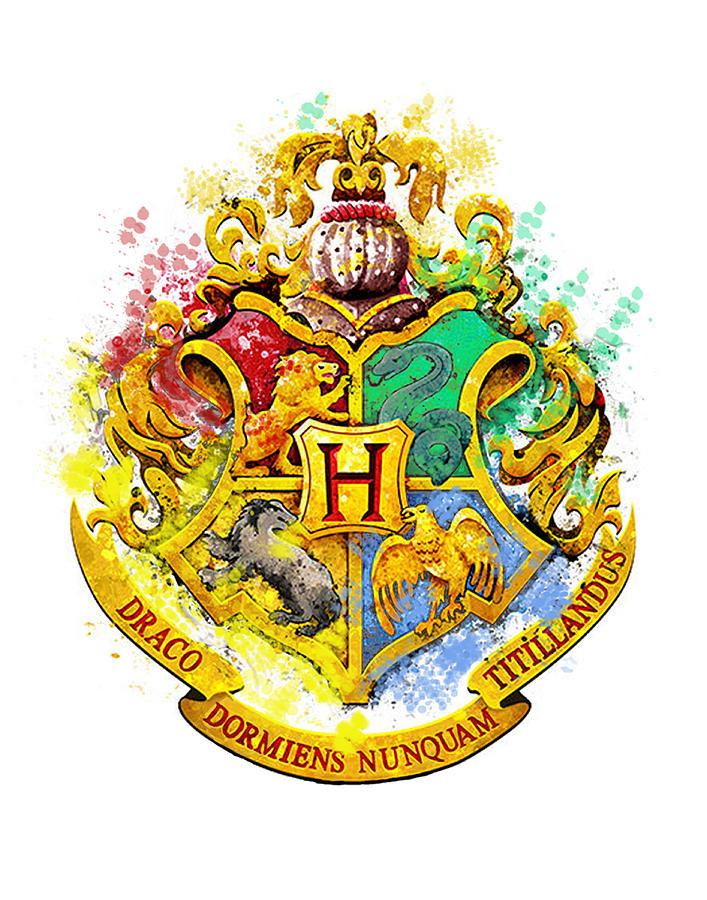 Hogwarts Poster Digital Art - Hogwarts Crest by Midex Planet