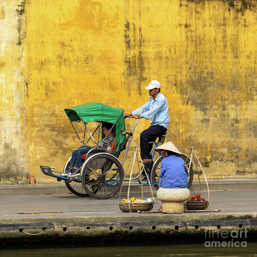 Hoi An Tan Ky Wall Cyclo 04 Photograph by Rick Piper Photography