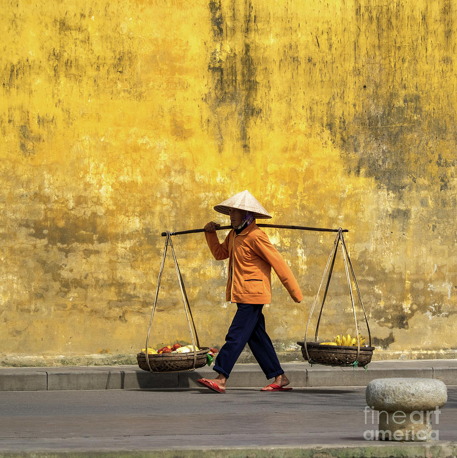 Hoi An Tan Ky Wall Hawker 08 Photograph by Rick Piper Photography