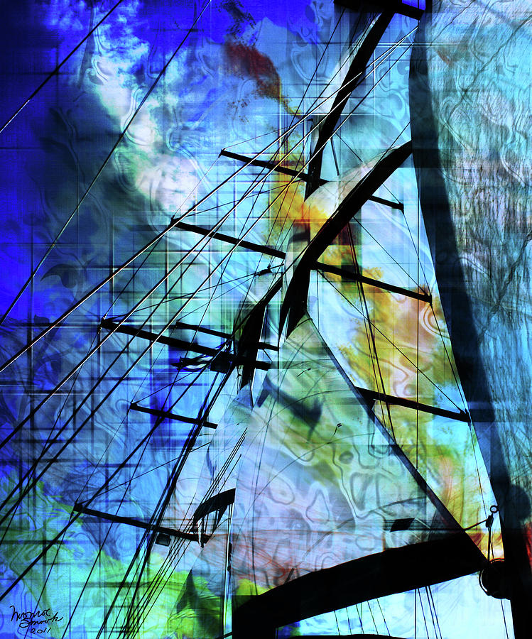 Abstract Mixed Media - Hoist by Monroe Snook