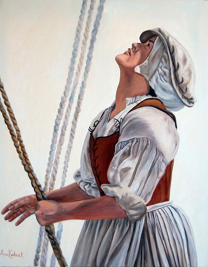 Portrait Painting - Hoisting Sails by Anne Kushnick