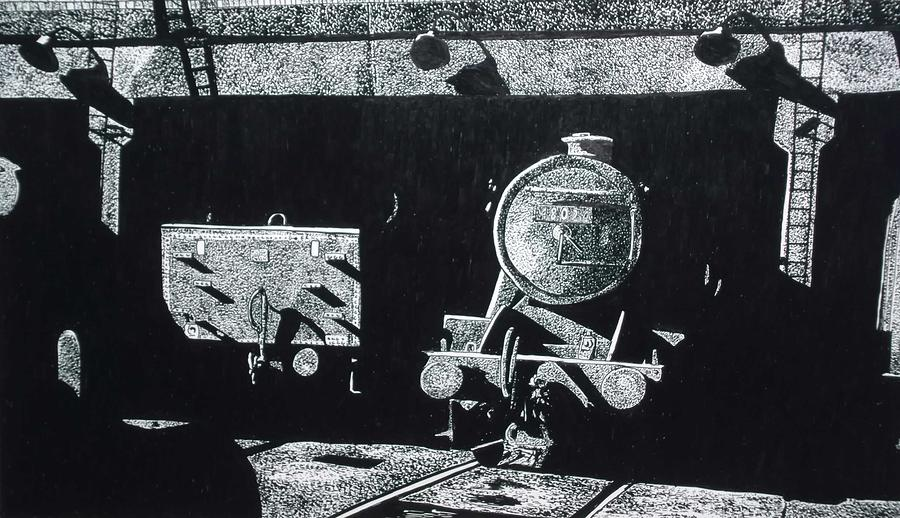 Trains Drawing - Holbeck Leeds by Andy Davis