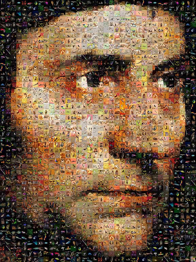 Mosaic Digital Art - Holbein - Sir Thomas Moro by Gilberto Viciedo
