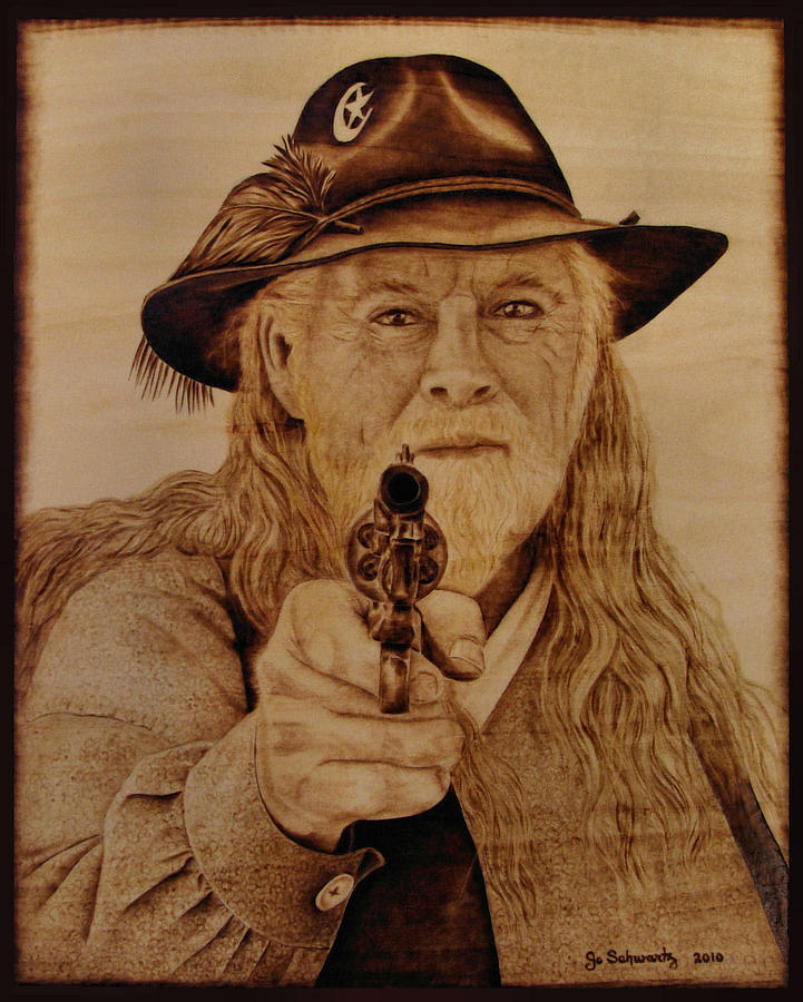 Pyrography Pyrography - Hold It Right There by Jo Schwartz
