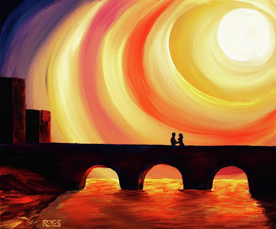 Bridge Painting - Hold Me by Angel Reyes