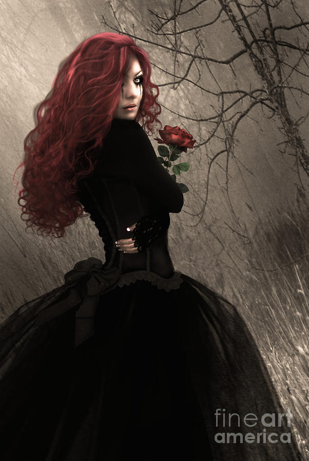 image Redhead punk goth girl fucks