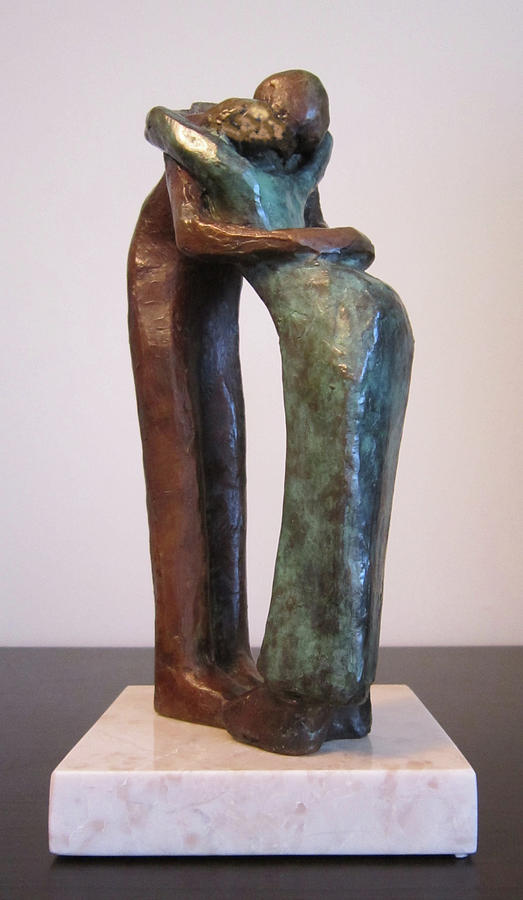 People Sculpture - Hold Me by Bozena Happach
