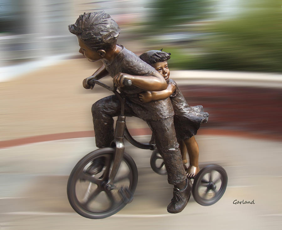 Children Mixed Media - Hold On by Garland Johnson