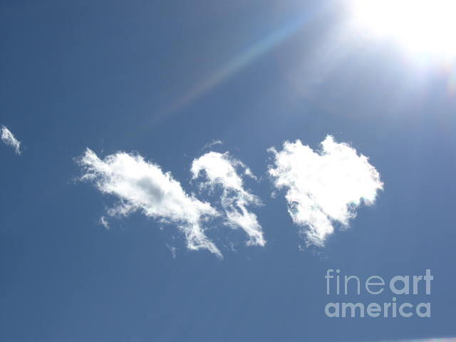 Sky Photograph - Hold On My Heart by Nancy Ippolito