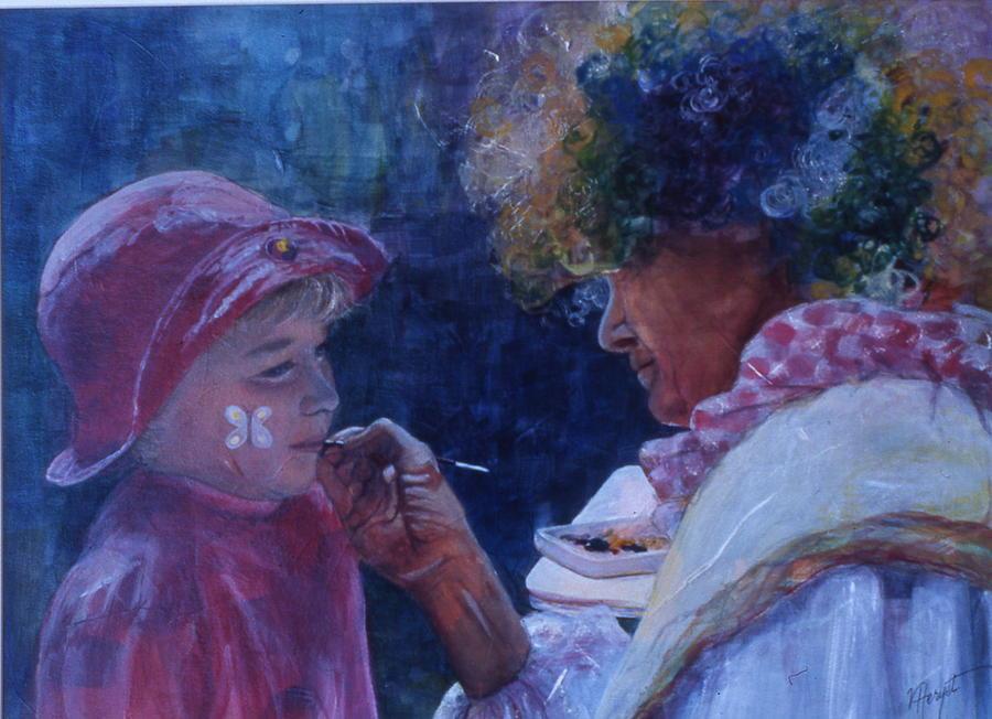 Children Painting - Hold Still by Victoria Heryet