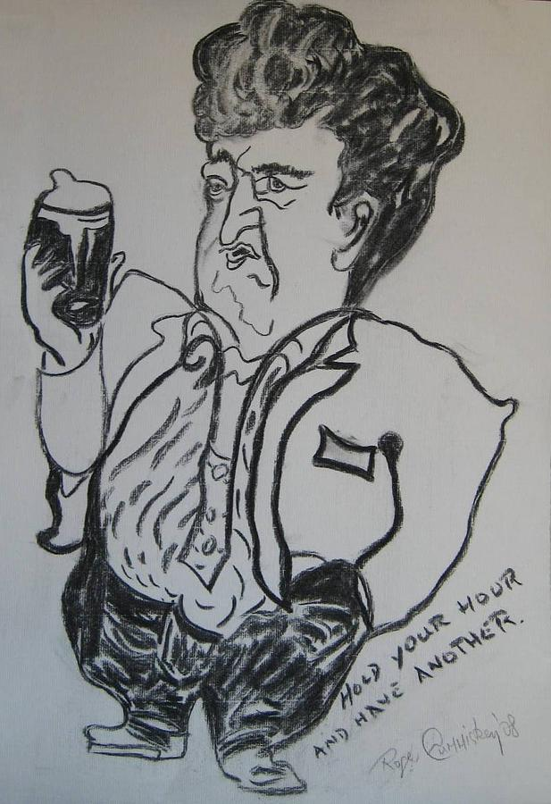 Brendan Painting - Hold Your Hour And Have Another. by Roger Cummiskey