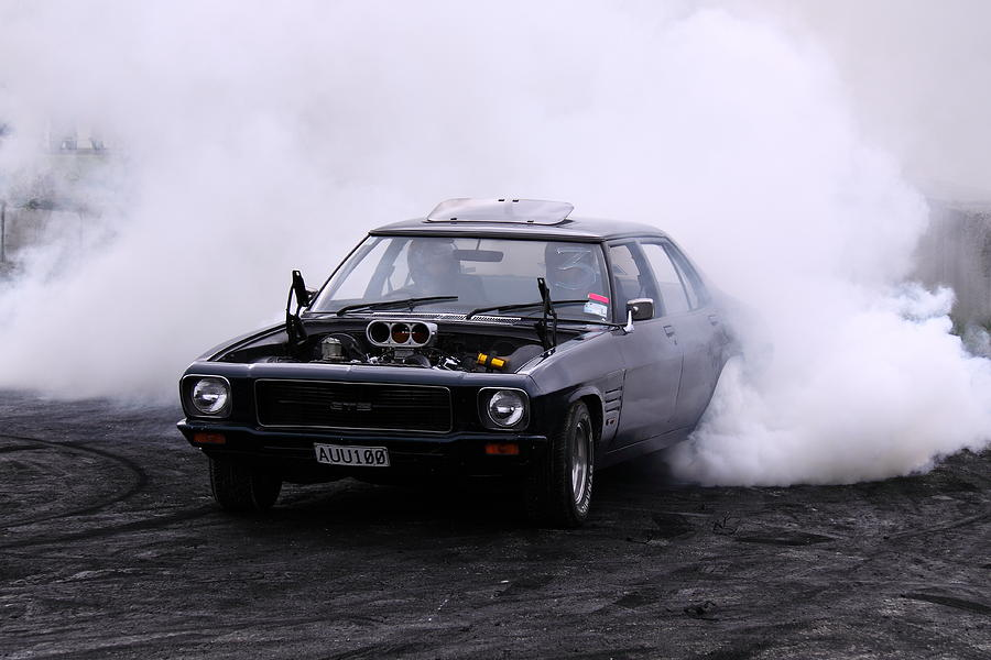 Holden Photograph - Holden Monaro Doing A Burnout by Stephen Athea