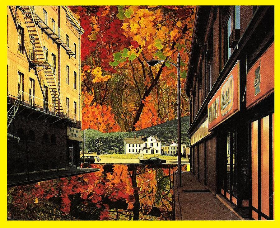 Leaves Mixed Media - Holden Street by Gabe Art Inc