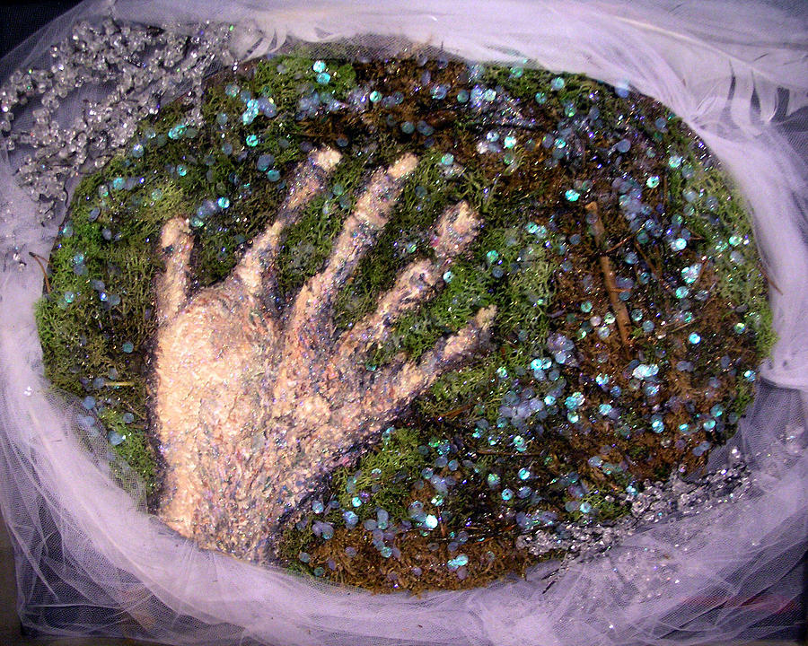 Holding Earth From The Series Our Book Of Common Faith Mixed Media by Stephen Mead