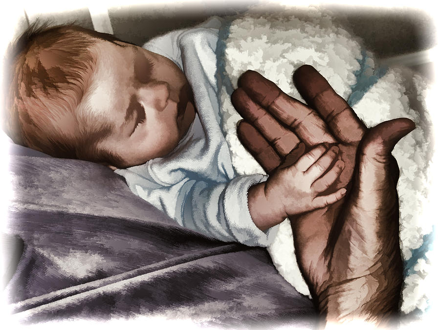 Baby Photograph - Holding Hands by Melvin Busch