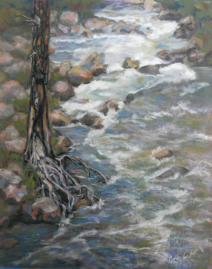 Rivers Pastel - Holding The Edge by Carole Haslock