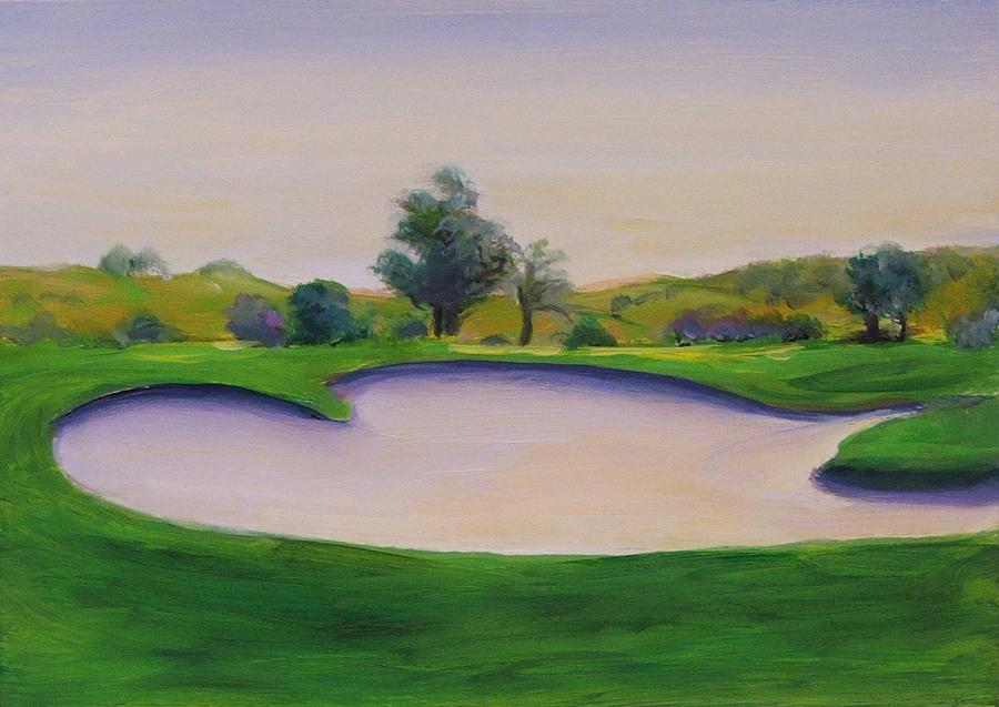 Golf Painting - Hole 2 Nuttings Creek by Shannon Grissom