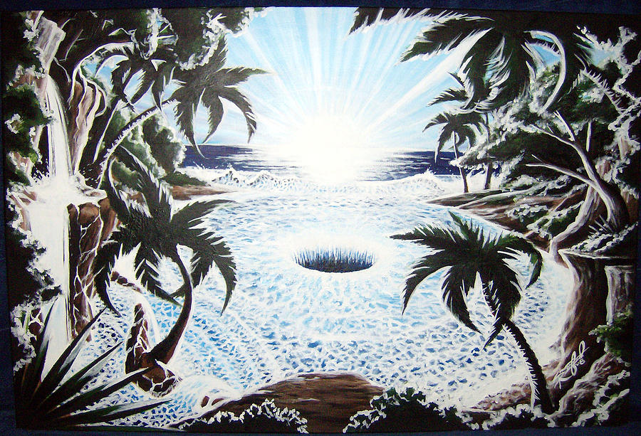 Tropical Painting - Hole In The Earth by Shea Rutherford