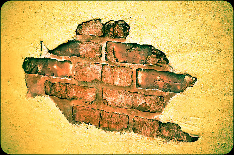 Brick Wall Photograph - Hole In The Wall by Keith Sanders