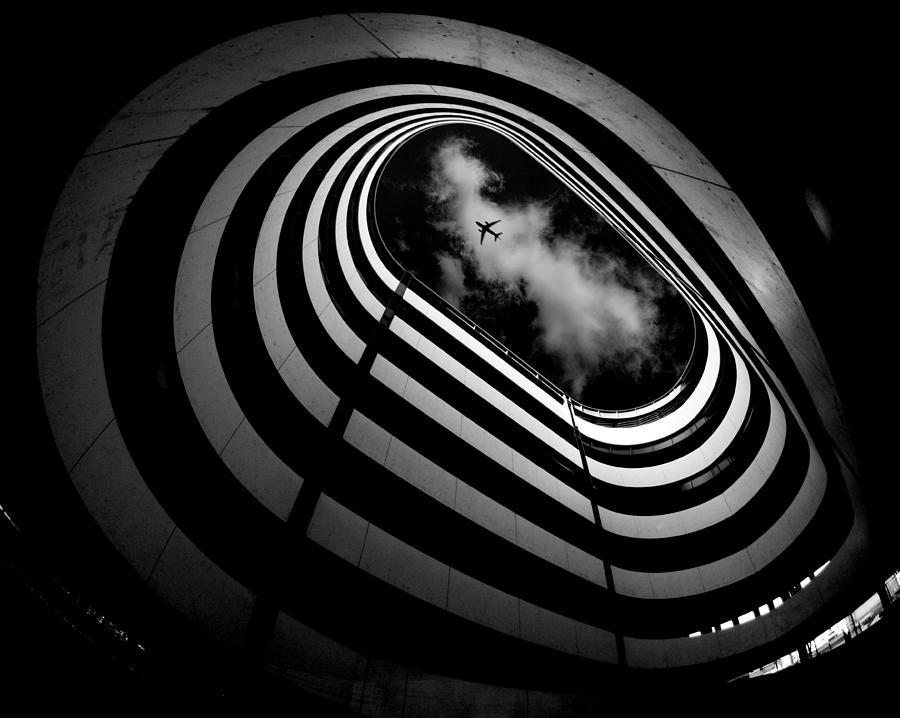 Bw Photograph - Hole by Koji Tajima