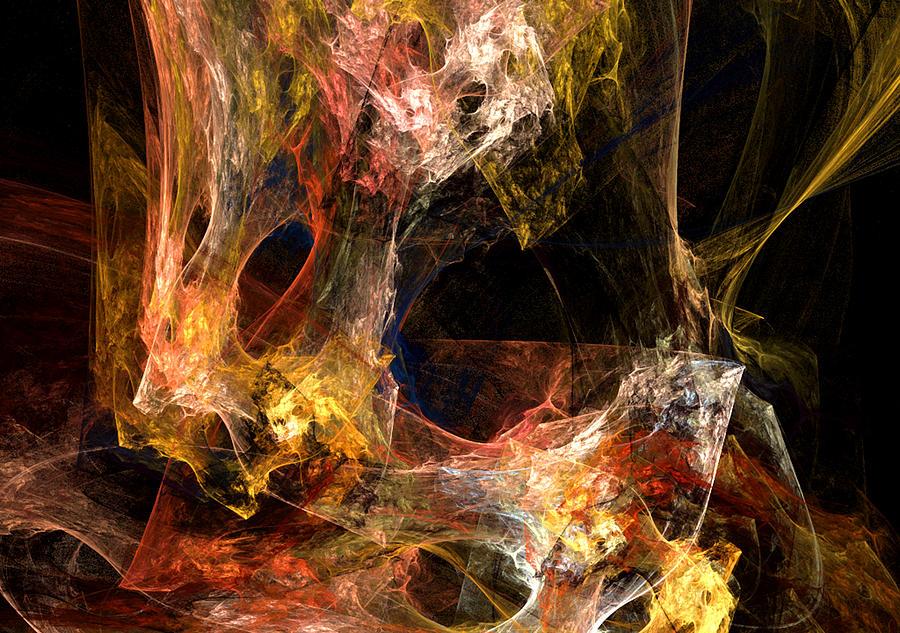 Abstract Digital Art - Holes by Ruth Palmer