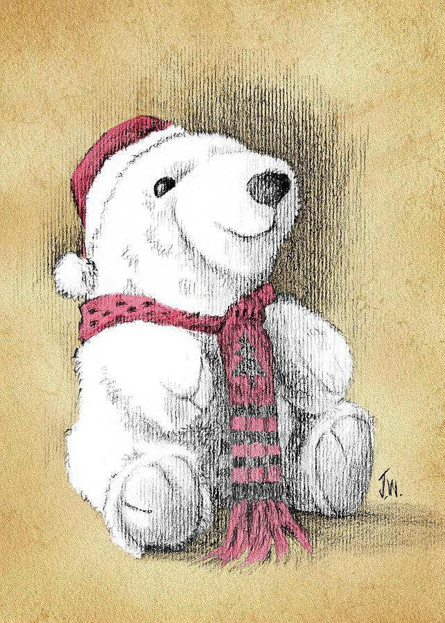 Holiday Bear Card by Joe Winkler