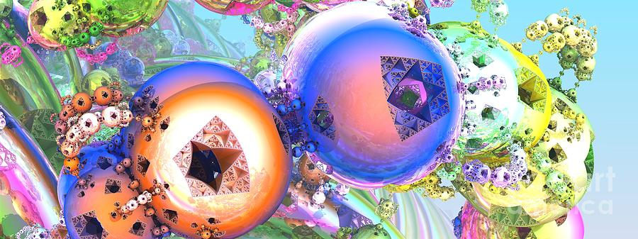 Fractal Digital Art - Holiday Celebrations by Jon Munson II