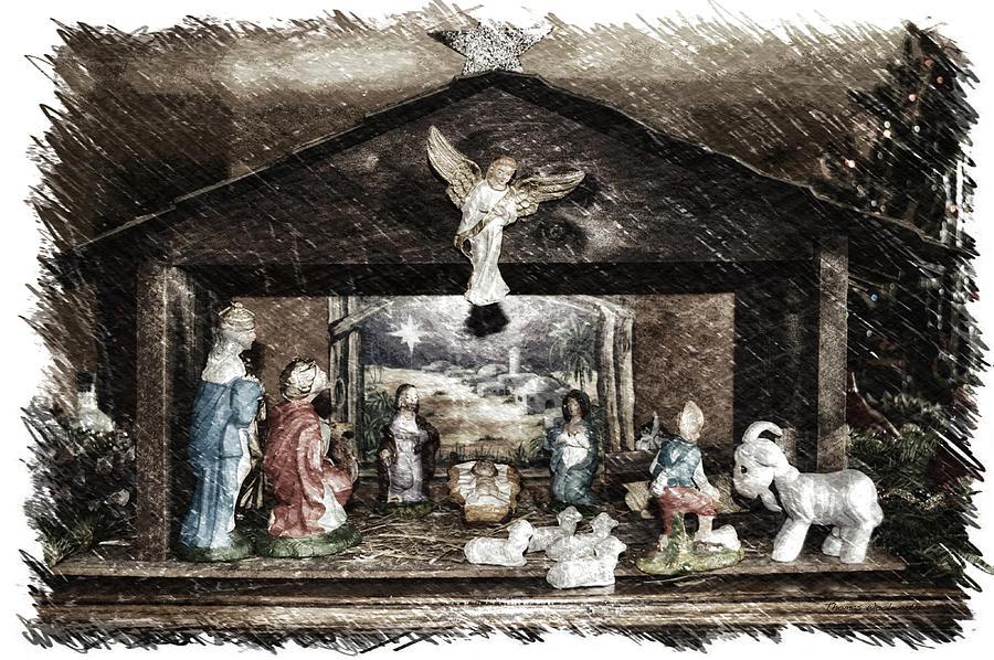 Xmas Photograph - Holiday Christmas Manger Pa 01 by Thomas Woolworth