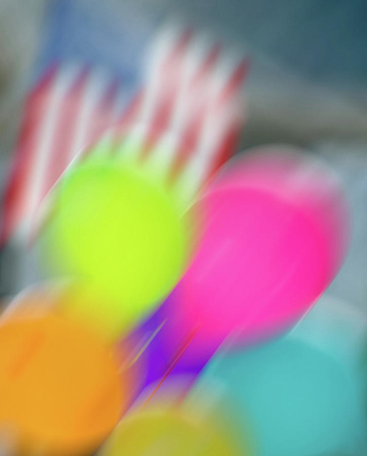 4th Of July Photograph - Holiday Decor Blur by Jerry Bernard